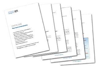 Cover und Seiten Checkliste